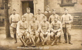 CARTE POSTALE - PHOTO DE SOLDATS D´OFFENBURG - SOUVENIR D´OCCUPATION 1922 - Personnages