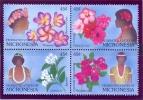 Micronésie 1989 Y&T 83/86  MNH** Flowers - Micronésie