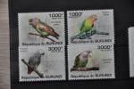 G 125 ++ REP. BURUNDI 2011 ++ BIRDS VOGELS OISEAUX PARROTS PERROQUETS PAPEGAAI    MNH ** - 2010-..: Ongebruikt