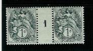 FRANCE TYPE  BLANC N° 107 * MILLESIME 1 DE 1921 TYPE I A - Millésime
