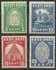 Estland Estonia 1936 Kloster Pirita Nonnery Michel 120 - 123 MNH - Altri
