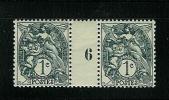 FRANCE TYPE  BLANC N° 107 *  MILLESIME 6 DE 1926 - Millésime