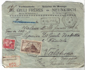 BOL1157 - FRANCIA , Assicurata 10/8/1936  Per L' Italia . Busta Condizioni Scarse - Francia