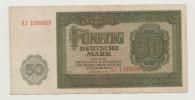Germany Democratic Rep. 50 Mark 1948 VF++ P 14b 14 B - 50 Mark