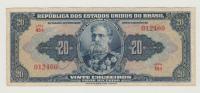 BRAZIL 20 MIL REIS 1931 VF+ P 48c 48 C - Brazil