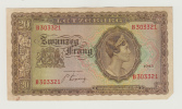 Luxembourg 20 Francs 1943 VF+ Crispy Banknote P 42 - Luxembourg