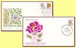 Australia 1970 - FDC Sturt's Desert Rose, Floral Emblems, Mi 443-445 - Rosen