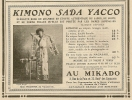 "PUB  De 1906 "" KIMONO SADA YACCO "" Au MIKADO - Publicités"