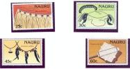 NAURU 1987 Y&T 332/35 Handicraft MNH ** - Nauru
