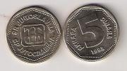Yugoslavia 5 Dinara 1993. UNC KM#156 - Yugoslavia