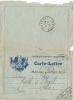 FM -  CARTE LETTRE - Illustration 5 Drapeaux Sur Fond Bleu  - Voyagée En 1916 - Marcophilie (Lettres)