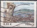 France 2008 Yvert 4257 O Cote (2012) 0.55 Euro Toulon Le Port Du Levant Et Sa Rade - Oblitérés