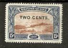 BRITISH GUIANA 1899 2c On 15c SG 224 MOUNTED MINT Cat £4 - Guyana Britannica (...-1966)