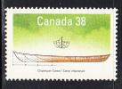 Canada MNH Scott #1229 38c Chipewyan Canoe - Small Craft - 1952-.... Règne D'Elizabeth II