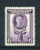 SOMALILAND  -  1942  George VI  6a  Mounted Mint  As Scan - Somaliland (Protectorat ...-1959)