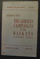 The German Campaigns In The Balkans (spring 1941) - Armées Étrangères