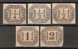 Germany (Norddeutscher Bund) 1870  Dienstmarken  (*) MH + MNG  Mi.1-5 - Conf. De L' All. Du Nord