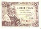 BILLETE DE ESPAÑA DE 1 PTA DEL 15/06/1945 ISABEL LA CATÓLICA SERIE J  CALIDAD MBC (BANK NOTE) - [ 3] 1936-1975 : Régence De Franco