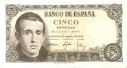 BILLETE DE ESPAÑA DE 5 PTAS DEL 16/08/1951 SERIE U EN CALIDAD EBC (BANKNOTE) - [ 3] 1936-1975 : Régimen De Franco