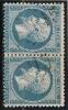 GC  2915  /  POITIERS  /  VIENNE  SUR N°  22 -LOT 9821-variété - Marcophily (detached Stamps)