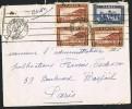 MAROC Lettre    1938     Yv 131 X 3, 147  Pour Paris - Covers & Documents