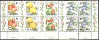 Moldova  1998  MNH**  -  Yv. 236/239  Bloc 4x - Frutta