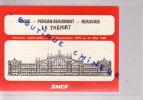 HORAIRES SNCF 1979 A 1980 PARIS /PERSAN BEAUMONT/BEAUVAIS - Abonnements Hebdomadaires & Mensuels