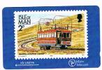 ISLE OF MAN - MANX TELECOM GPT - 1989 SNAEFELL MOUNTAIN RAILWAY  CODE 4IOMA  TIR. 8000 - USED (USATA)- RIF. 7731 - Isola Di Man
