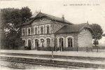 CPA - 68 - NEUF-BRISACH - La Gare - Carte Avec Petite Encoche De Chaque Côté - 607 - Neuf Brisach