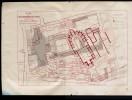 Plan Ancienne Abbaye St Vaast  XVIe Siècle Sur Extrait Cadastral D Arras Terminé En 1839 Lith J Mortreux Douai - Old Paper