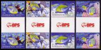 Barbados WWF Queen Triggerfish 4 Gutter Pairs SG1290/1293 - Barbados (1966-...)