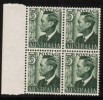 AUSTRALIA   Scott #  233*  VF MINT LH Blk. Of 4 - 1937-52 George VI