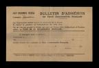 POLITIQUE - Bulletin D'adhésion Au Parti Communiste Français - Fédération D'Ille-et-Vilaine - Années 40 - Vieux Papiers