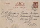 CARTE POSTALE - PRIX DE VENTE 0.90 - FRANCE - CARTE PREIMPRIMEE - Ecrite En Janvier 1941 à PARIS - Postal Stamped Stationery