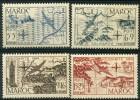 Maroc (1950) PA N 75 à 78 ** (Luxe) - Maroc (1891-1956)