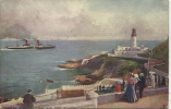 TUCKS OILETTE 1780 - DOUGLAS HEAD LIGHTHOUSE AND PORT SKILLION - Isle Of Man