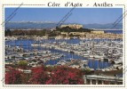 ANTIBES Alpes Maritimes 06 : Le Port De Plaisance Et Le Fort Carré Bateaux Voiliers - Autres