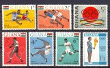 Muu058 SPORT OLYMPISCHE SPELEN ATLETIEK VOETBAL ATHLETIC BOXING JUMPING RUNNING FOOTBALL OLYMPIC GAMES GHANA 1964 PF/MNH - Summer 1964: Tokyo