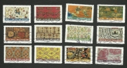 TIMBRES POSTE  DE FRANCE  SERIE N° AA 512 A 523 - Usati