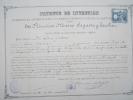 Certificat De Brevet D´Invention/Direction General De Agricultura, Industria Y Comercio/ MADRID/1893    DIP10 - Diplomi E Pagelle