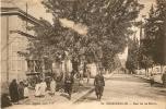 Orleansville  Rue De La Mairie Et Avenue Carnot Animée - Cartes Postales