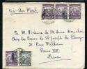 BARBADOS-FRANCE 1948 AIR MAIL COVER DD1018 - Briefmarken