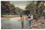 Talamanca Indians Fishing(Indiens Pêchant à L'arc) - A Circulé En 1909 - Costa Rica
