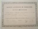 Diplôme/Réception De Membre/Société Linéenne De Normandie/ Delavigne/ ALENCON/Orne/CAEN/Calvados/1884     DIP14 - Diploma & School Reports