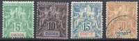 4 Valeurs De 1892 - Obock (1892-1899)