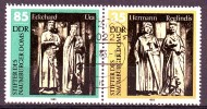 DDR Zusammendruck WZd571 Mi.2810+11 Naumburger Dom Perfekter Tagesstempel Leipzig - Se-Tenant