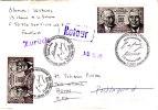 LSE 2490x2 FDC Franco Allemand Bonn Poste Restante Retour - 1961-....