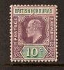 BRITISH HONDURAS 1902-04 KING EDWARD VII SC # 65 MH - Britisch-Honduras (...-1970)