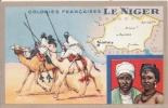 LE NIGER CARTE PUBLICITAIRE LION NOIR DES COLONIES FRANCAISES - Niger