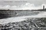 AK  Nordseebad Büsum, Herrenstrand Bei Sturmflut, Gel. - Buesum